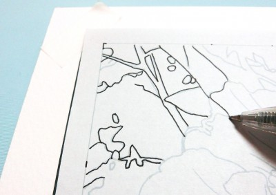 大人のぬり絵の線画をトレースする5