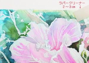花の水彩画(塗り絵)の描き方n1-11
