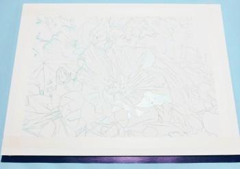 花の水彩画(塗り絵)の描き方n1-3