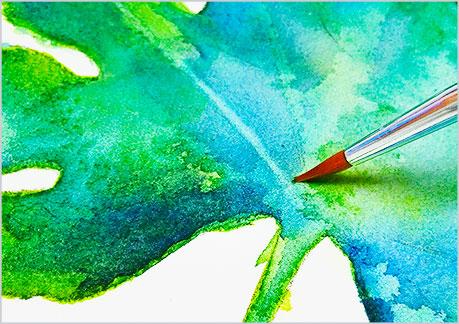水彩画や水彩イラストの技法と描き方でリフトアウトの手順-4