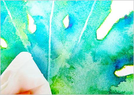 水彩画や水彩イラストの技法と描き方でリフトアウトの手順-5