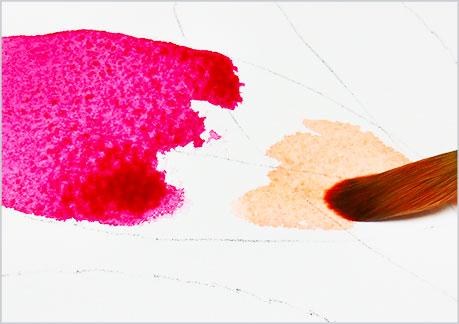 水彩画・イラスト-植物の葉っぱの描き方-グラデーションの手順2