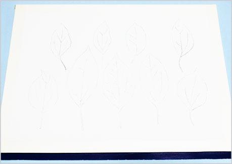水彩画や水彩イラストの技法と描き方、スパッタリングの手順1