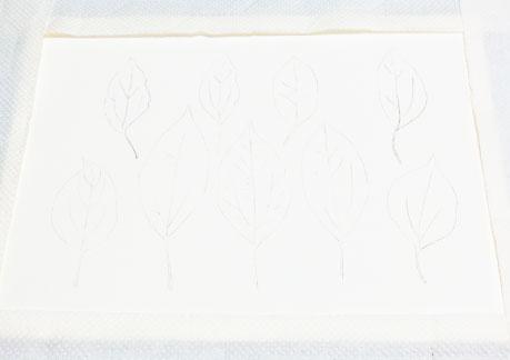 水彩画や水彩イラストの技法と描き方、スパッタリングの手順2