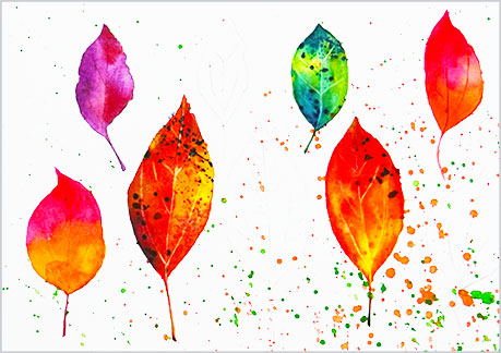 水彩画や水彩イラストの技法と塗り方、ドライブラシの手順3
