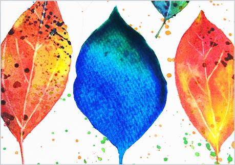 水彩画や水彩イラストの技法と塗り方、塩を使っての手順1