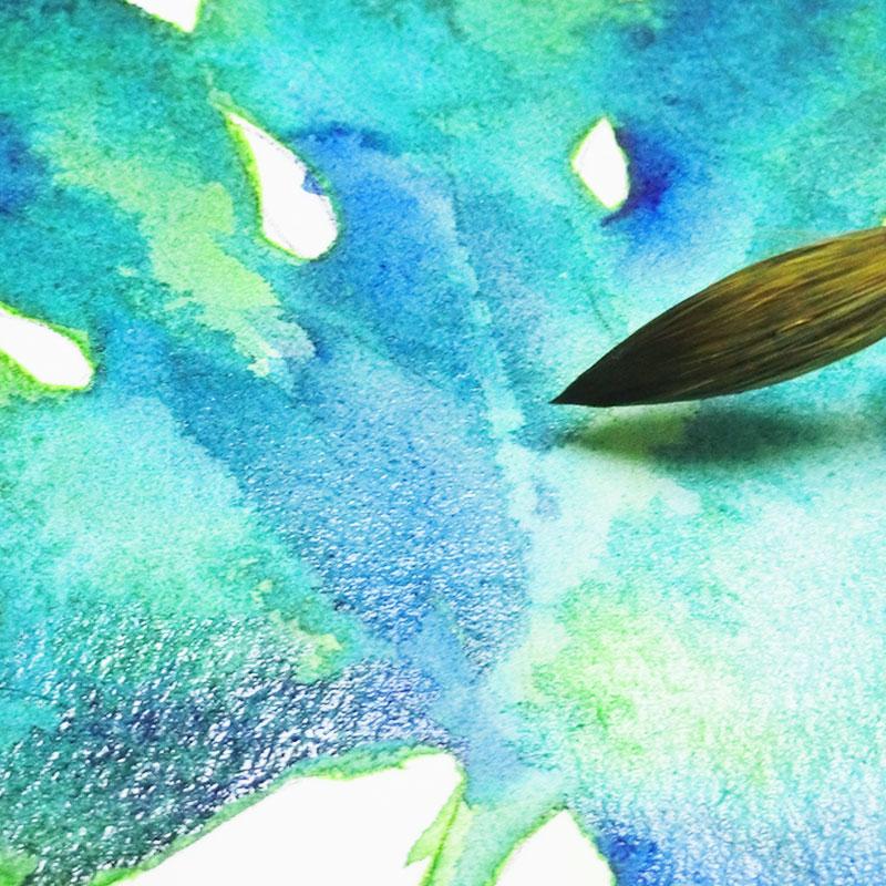 水彩画の基本技法-ウエットインウェット