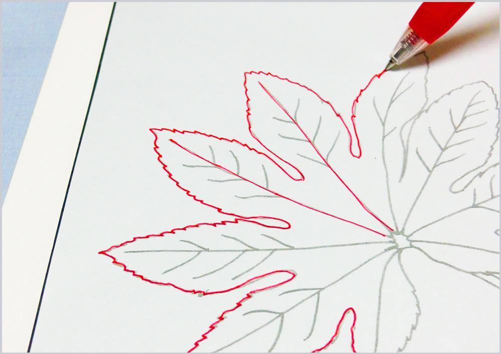 水彩画の下絵をトレースする手順2